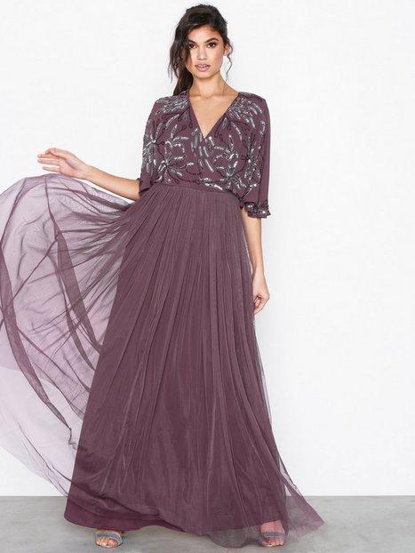 Billede af Maya Cape Maxi Dress Maxikjoler Purple
