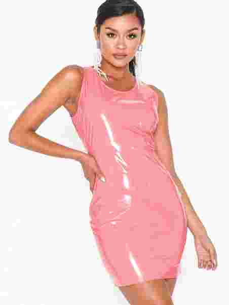 11a38c9b650 Vinyl Dress - Nly One - Pink - Party Dresses - Clothing - Women ...