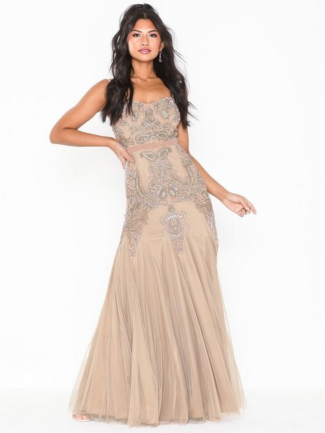 Billede af Dolly & Delicious Embellished Fishtail Maxi Dress Maxikjoler