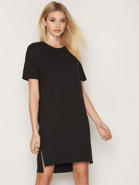 Billede af MOSS COPENHAGEN Alexa Wooltouch Dress Loose fit dresses Black Melange
