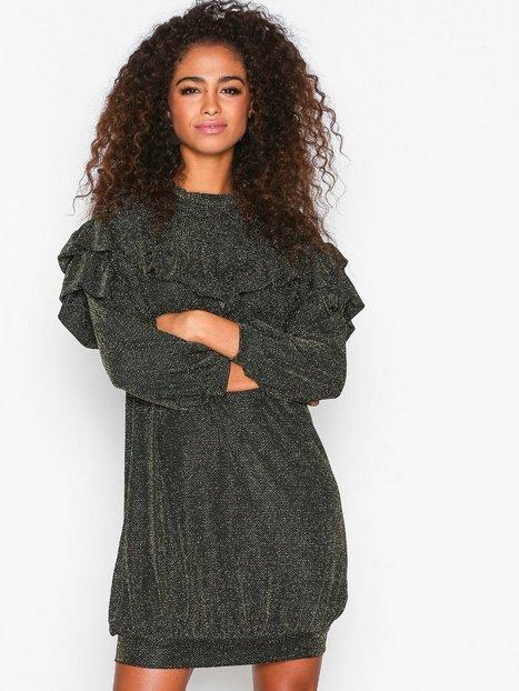 Billede af MOSS COPENHAGEN Jessica Dress Loose fit Black/Gold
