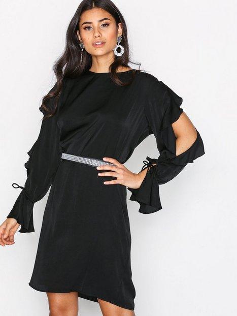 Billede af MOSS COPENHAGEN Ina Shiny Dress Langærmede kjoler Black