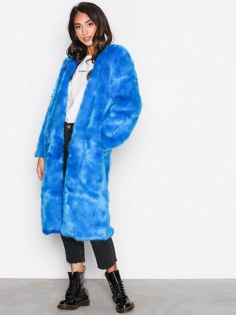 Billede af Free People Magnolia Coat Faux Fur Ocean Blue