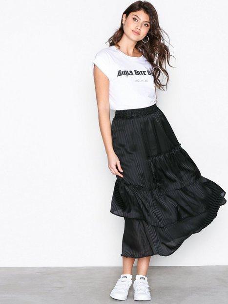 Billede af MOSS COPENHAGEN Freddie Jaquar Skirt Midi nederdele Black Stripe