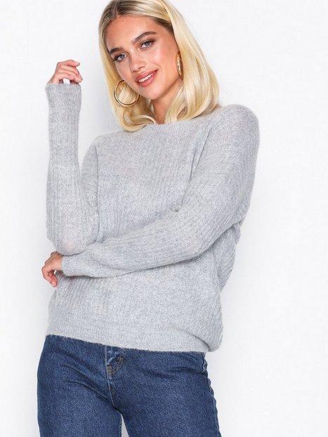 Billede af MOSS COPENHAGEN Femme Rib Mohair Pullover Strikkede trøjer Light Grey Melange