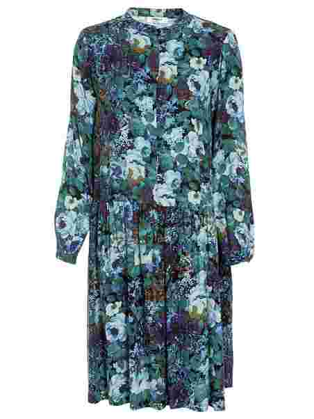 Aura Festkjoler Copenhagen Tøj Kvinde Blue Dress Moss HPHOa