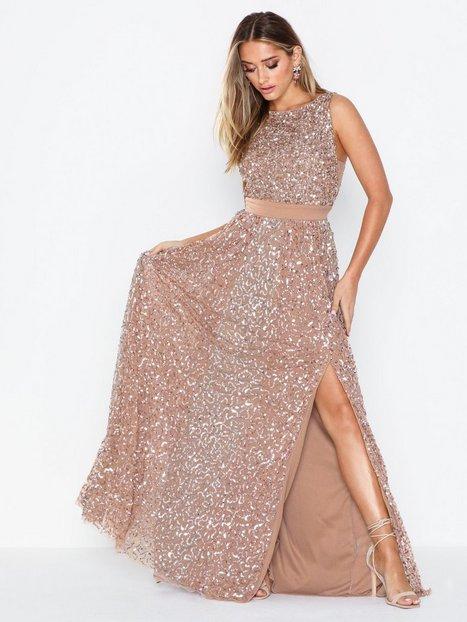 Billede af Maya All Over Sequin Maxi Dress Pailletkjoler