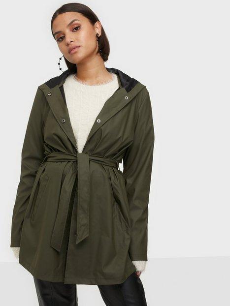 Jacqueline de Yong Jdyshelby Belt Raincoat Otw Noos Forest Night