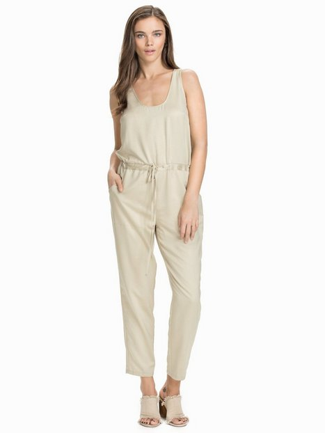 Satin Jumpsuit - Nly Design - Beige - Jumpsuits - Clothing - Women ...