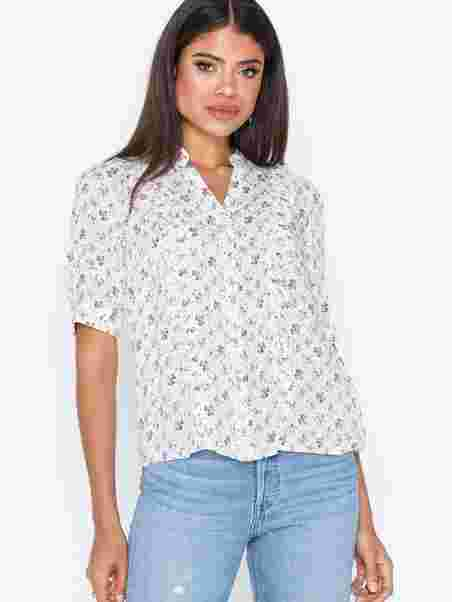 eacc1e38 Norris Frill Shirt - Co'couture - Offwhite - Blouses & Shirts ...