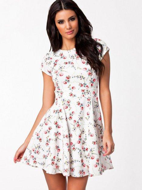 Open Back Flower Dress