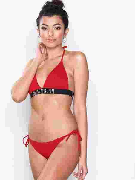3ad86eff84973 Cheeky String Side Tie Bikini - Calvin Klein Underwear - Red ...
