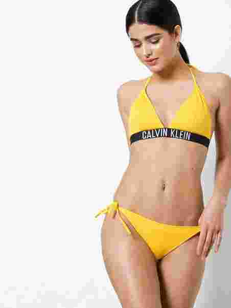 91d0dc614c Cheeky String Side Tie Bikini - Calvin Klein Underwear - Lemon ...