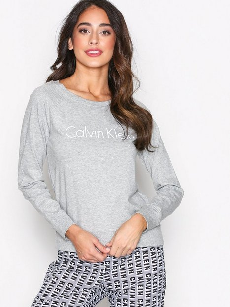 Long Sleeve Curve Neck - Calvin Klein Underwear - Grey - Sleepwear ...