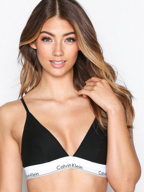 Billede af Calvin Klein Underwear Triangle Unlined Bandeau & soft-bra Sort