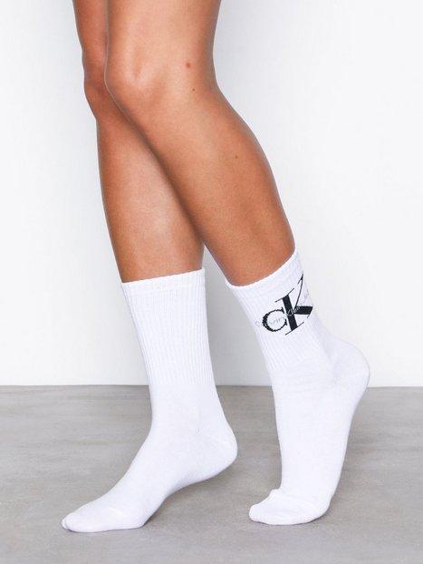 Billede af Calvin Klein Underwear Bowery Logo Crew Strømper Hvid