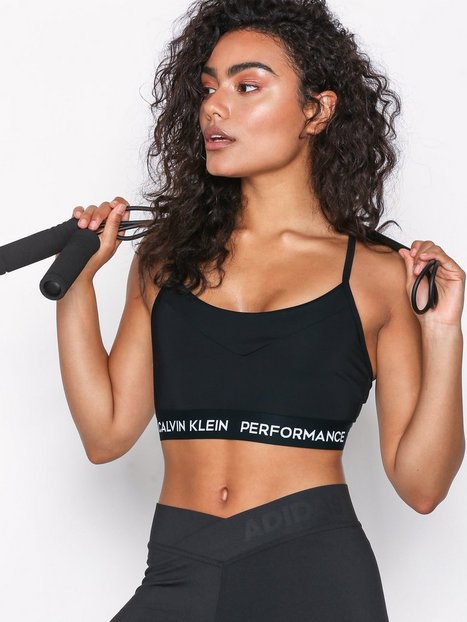 Billede af Calvin Klein Performance Adjustable Sports Bra Sports BH Light Support Sort