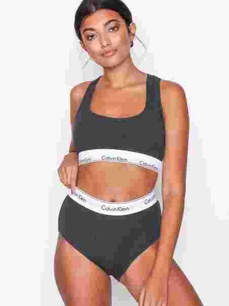 1bfcd5523819d High Waist Bikini - Calvin Klein Underwear - Charcoal - Briefs ...