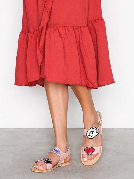 Billede af Love Moschino Flat Sandal Sandaler Rosa/Lyserød