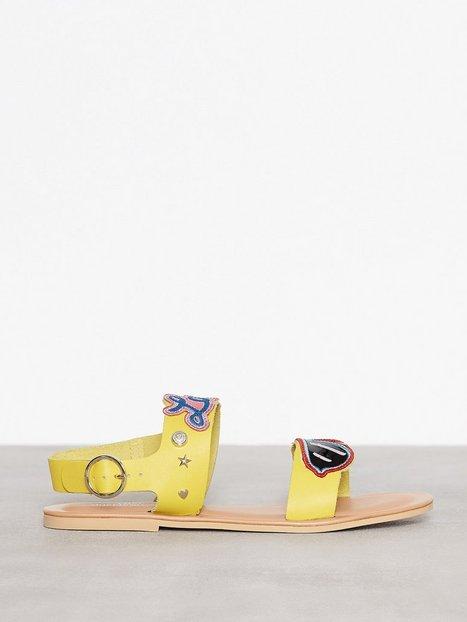 Billede af Love Moschino Flat Sandal Sandaler Gul