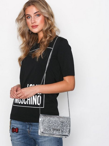 Axelremsväska Nelly : Axelremsv?ska love moschino silver bags