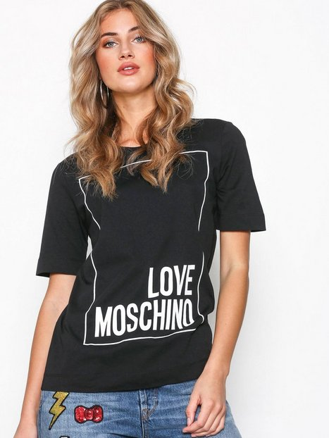 Love Moschino W4F1553M3517 T-shirts Black thumbnail