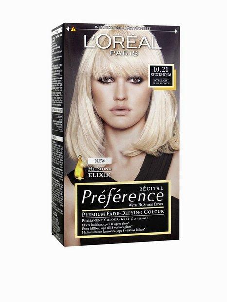L'Oréal Paris Préferénce Récital hair color 10,21 Hårfärg