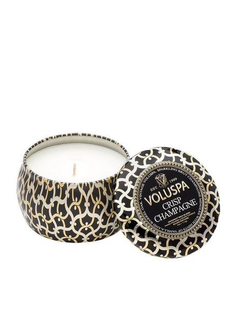 Billede af Voluspa Crisp Champagne Decorative Tin Candle Duftlys Hvid