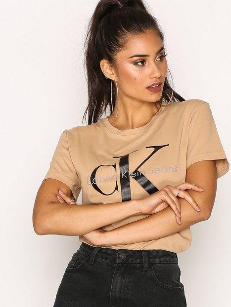 Billede af Calvin Klein Jeans Shrunken Tee Toppe Tannin