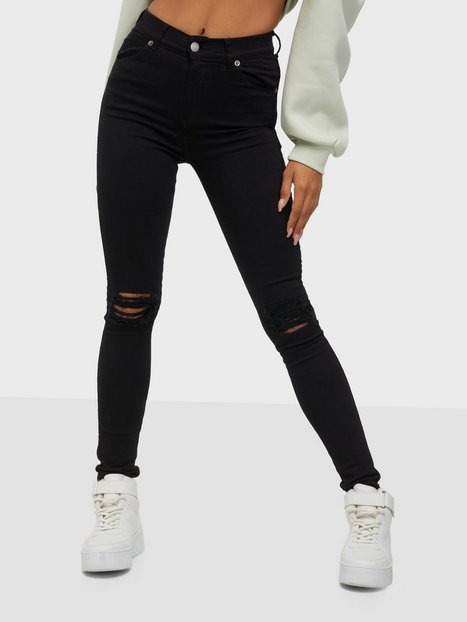 Billede af Dr Denim Lexy Black Ripped Knees Slim fit Black