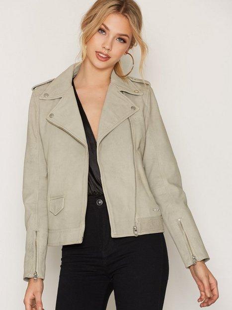Billede af Calvin Klein Jeans Meadowy Leather Jacket Skindjakke Vapor Blue