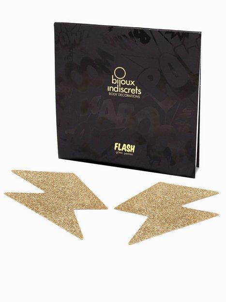 Billede af Bijoux Indiscrets Flash Bolt Nipple Cover Pasties Tilbehør-- Gold