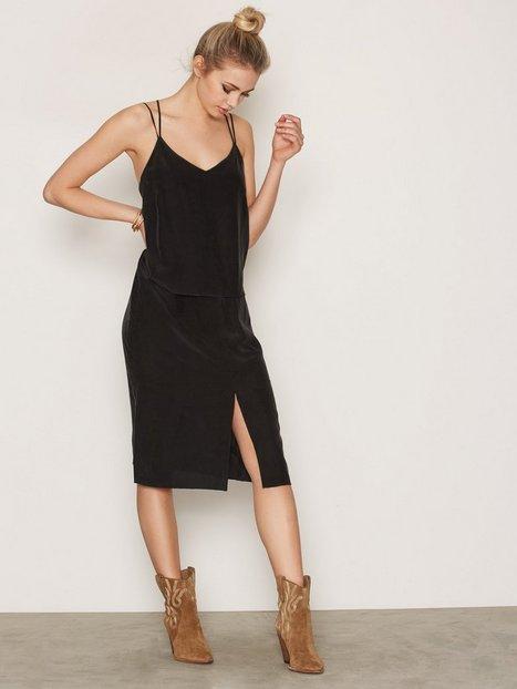 Billede af J Lindeberg Astrid Silky Blend Loose fit dresses Black