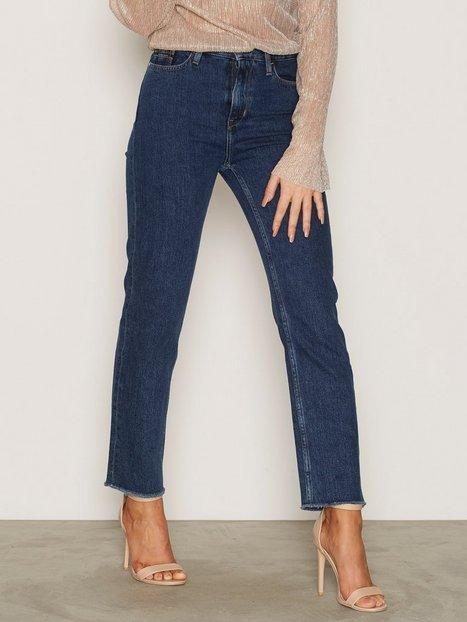 Billede af Calvin Klein Jeans High Rise Cropped Skinny Stone Blue
