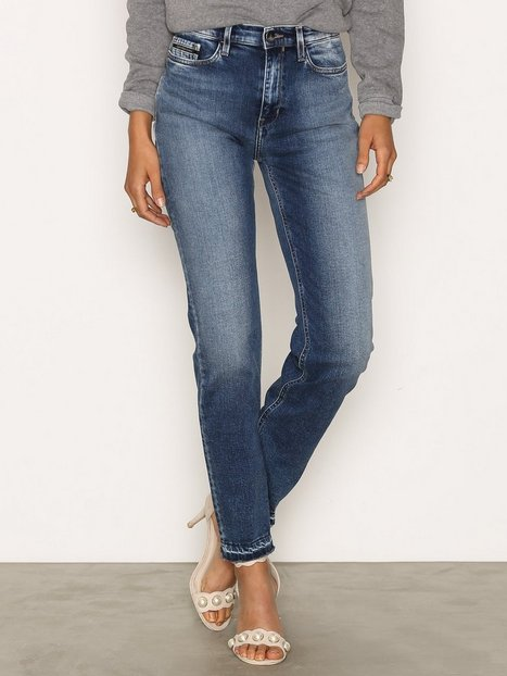 Billede af Calvin Klein Jeans HR Straight Ancle Jeans Straight Waterfall