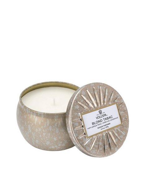 Billede af Voluspa Blonde Tabac Decorative Tin Candle Duftlys Hvid