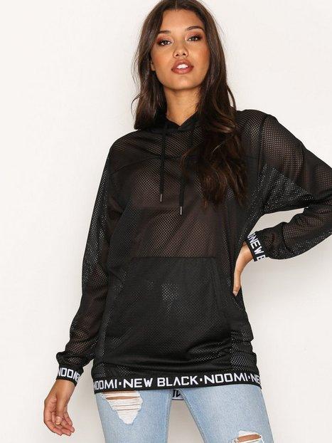 Billede af New Black Noomi Mesh Hood Sweatshirt Black