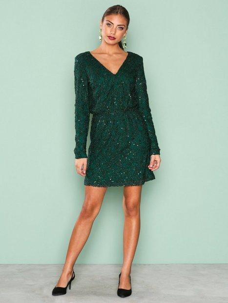 Sparkly V Neck Dress