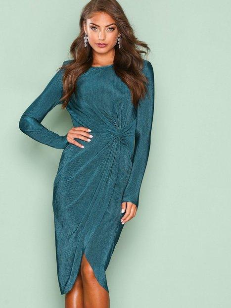 Padded Pleated Dress