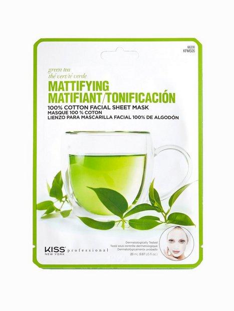 Billede af Kiss Professional New York Mattifying Sheet Mask Ansigtsmaske Green Tea