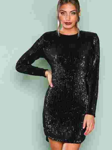 c1b5a172666 Power Sequin Dress - Nly Trend - Black - Party Dresses - Clothing ...