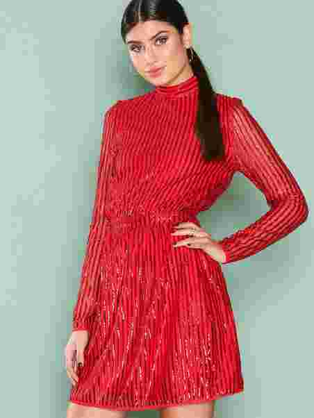 9923633c38e Sequin Flirt Dress - Nly Trend - Red - Party Dresses - Clothing ...