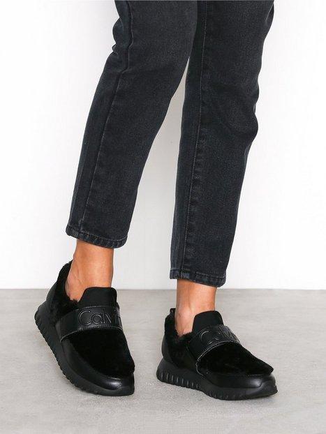Billede af Calvin Klein Jeans Rachel Soft Nappa/Fur Sneakers Sort