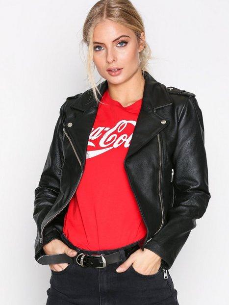 Billede af Dr Denim Leia Leather Jacket Læderjakker Black