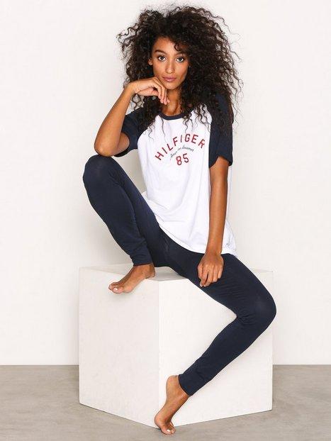 Billede af Tommy Hilfiger Underwear Set SS Logo Pyjamas & Hyggetøj Hvid/blå