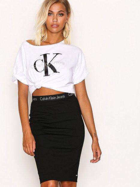 Billede af Calvin Klein Jeans Kiri HWK Punto Skirt Midi Nederdel Black