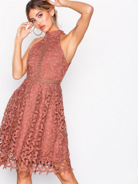 Sportscut Crochet Dress - Nly Eve - Rust - Partykleider - Kleidung ...