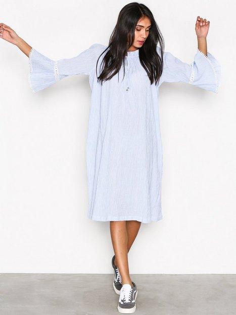 Billede af Replay W9448 Dress Loose fit dresses Blå/Hvid