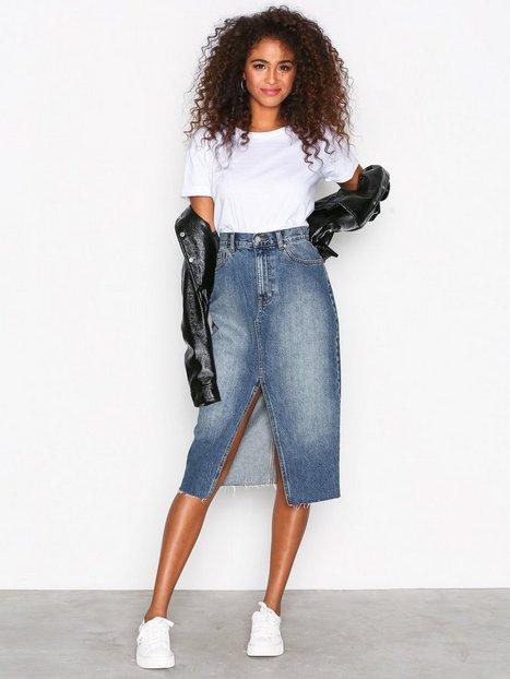 Billede af Dr Denim Octavia Denim Skirt Midi nederdele Mid Blue