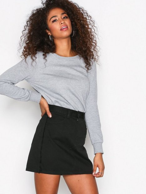 Billede af Dr Denim Adiam Denim Skirt Mini Nederdel Black
